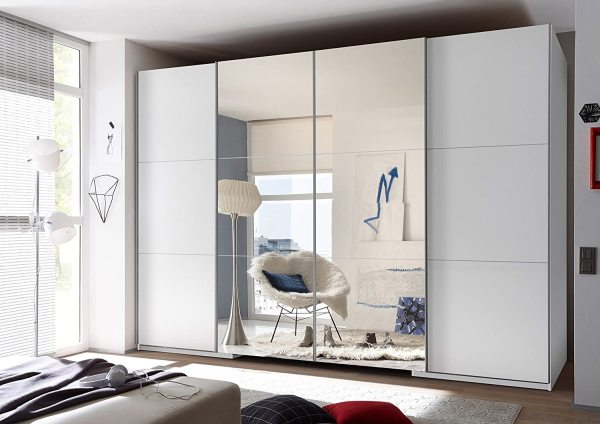 German Walk-in wardrobe sliding mirror doors