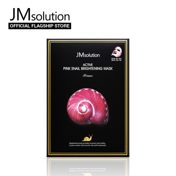 Buy JMsolution Active Pink Snail Brightening Mask 30ml (10pcs) - Korean Facial Mask Singapore