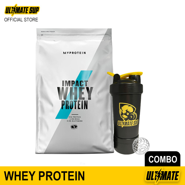 Buy Myprotein Impact Whey Protein Powder 1kg & Ultimate Sup Shaker with Storages 600ml Singapore