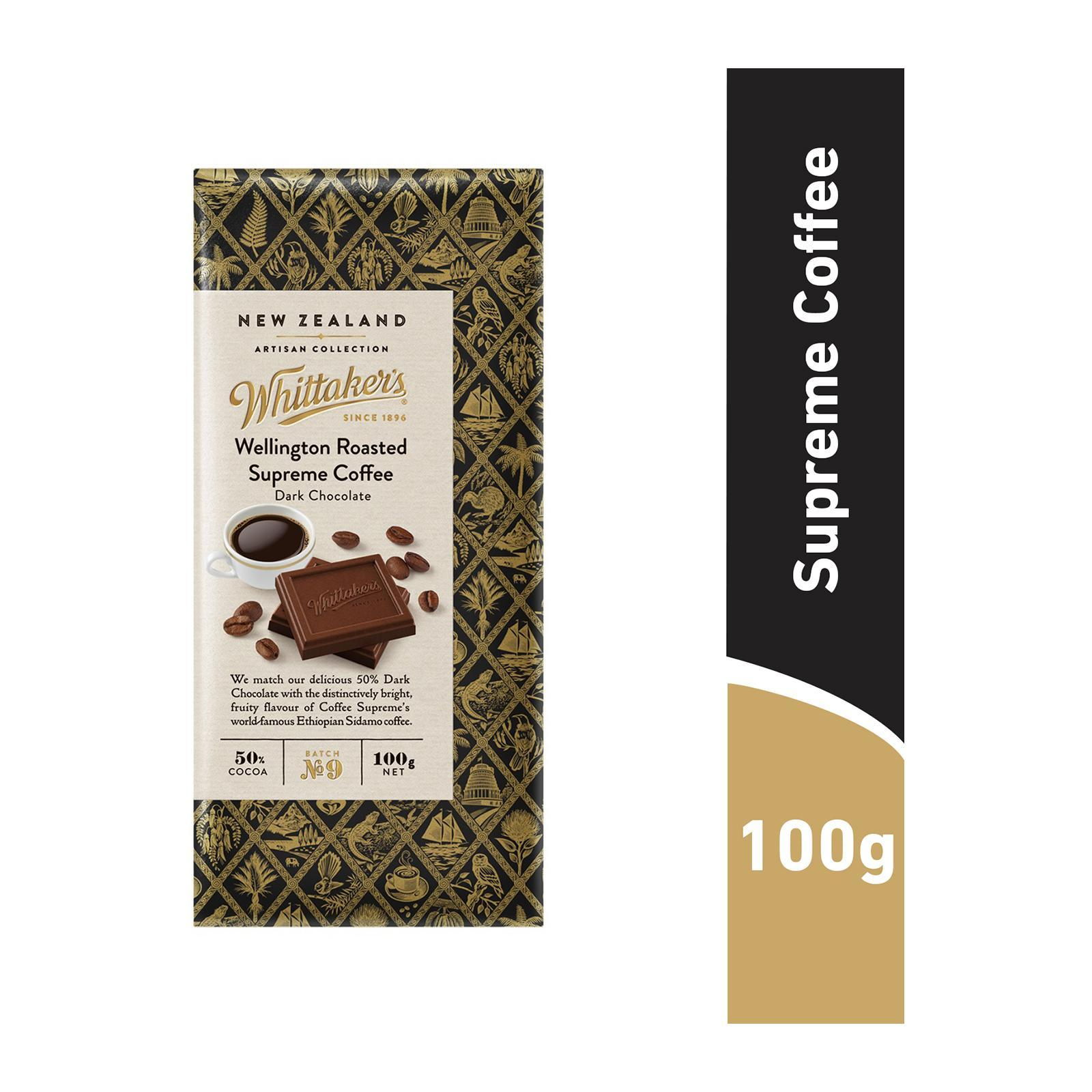 Whittaker's Wellington Roasted Supreme Coffee Chocolate Artisan Collection