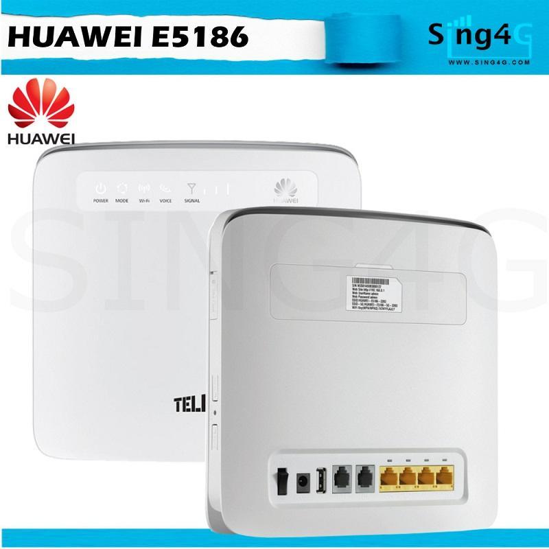 Huawei E5186 e5186s22 4G 300Mbps Direct Sim Card Router WIFI 64 + 4 LAN