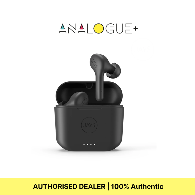 JAYS F-Five True Wireless Earphones, Up To 16 Hours of Playtime, Intuitive touch controls, Microphone Singapore