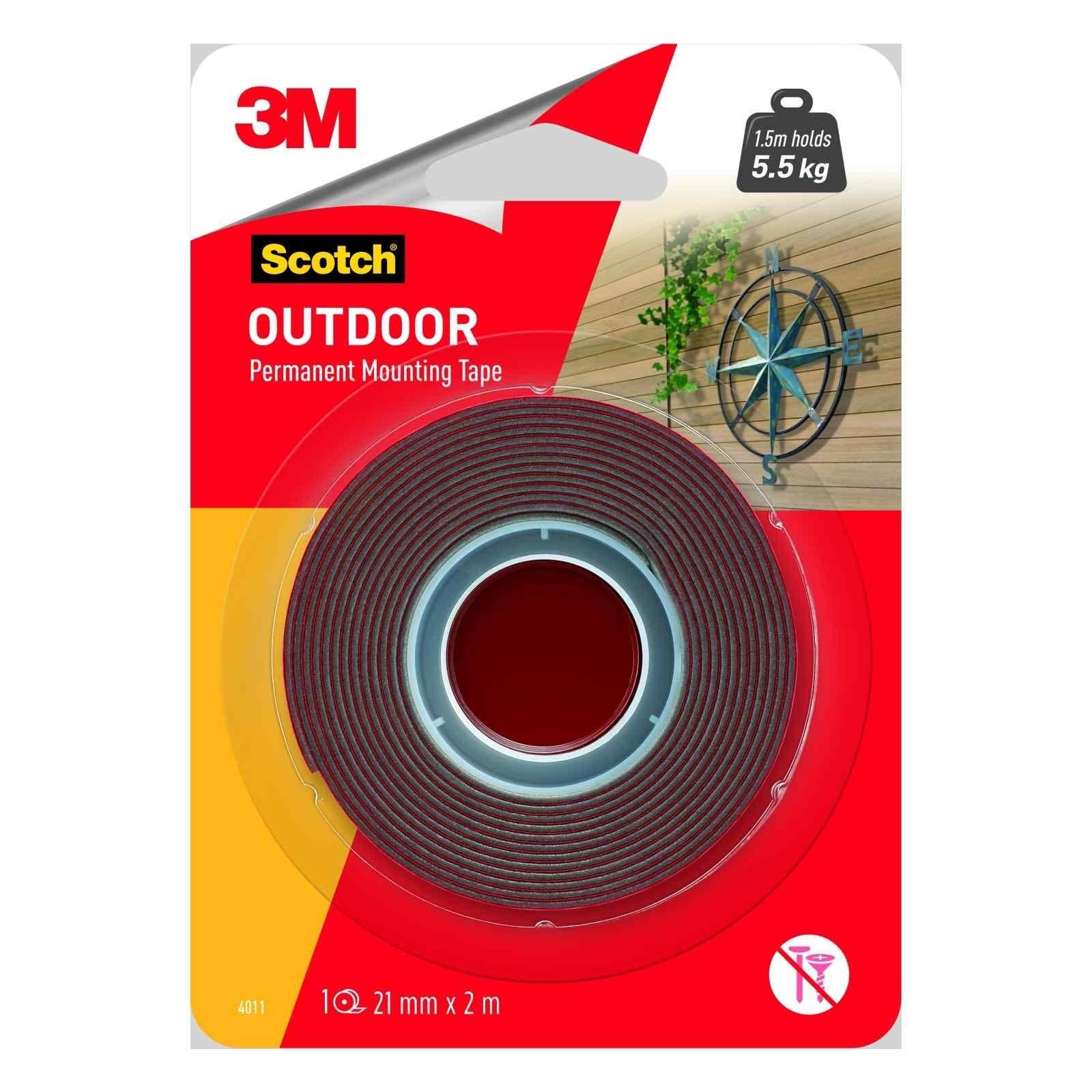 3M Scotch Permanent Outdoor Mounting Tape 21mm x 2m 4011-2M