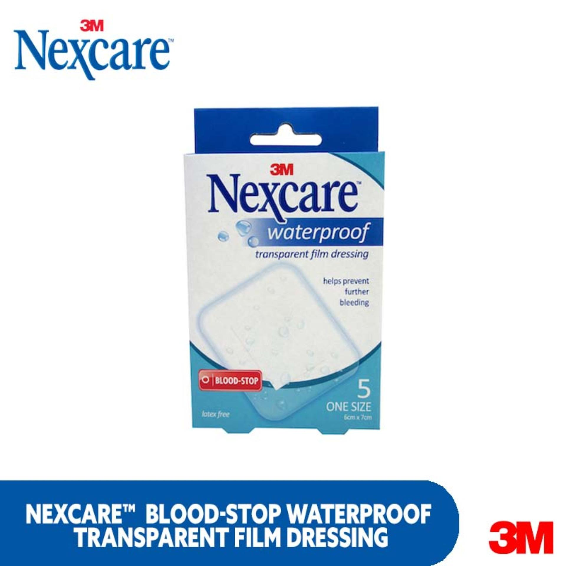 3m Nexcare Blood-Stop Waterproof Transparent Film Dressing 5s By 3m Official Store.