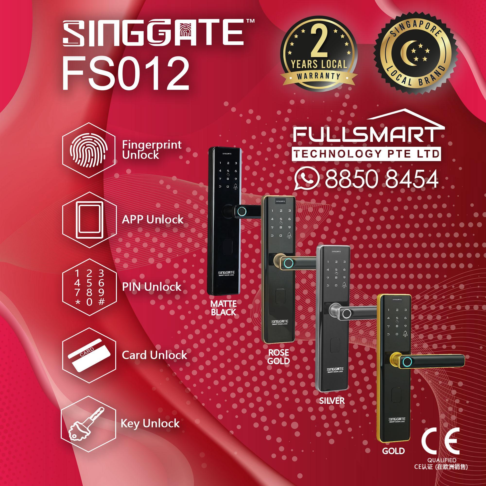 ★[BEST SELLER] ★SG LOCAL SELLER ★ SINGGATE™ FS012 ★DIGITAL DOOR LOCK★