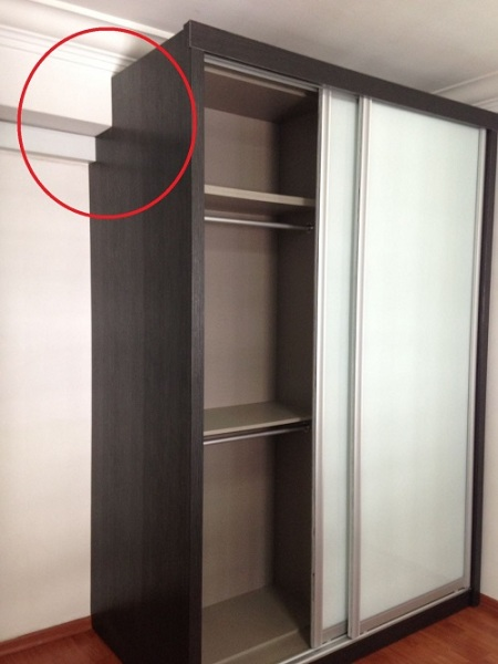 Solid MDF Customizable Modular Sliding Wardrobe 5 to 7ft length 5 Internal Configuration