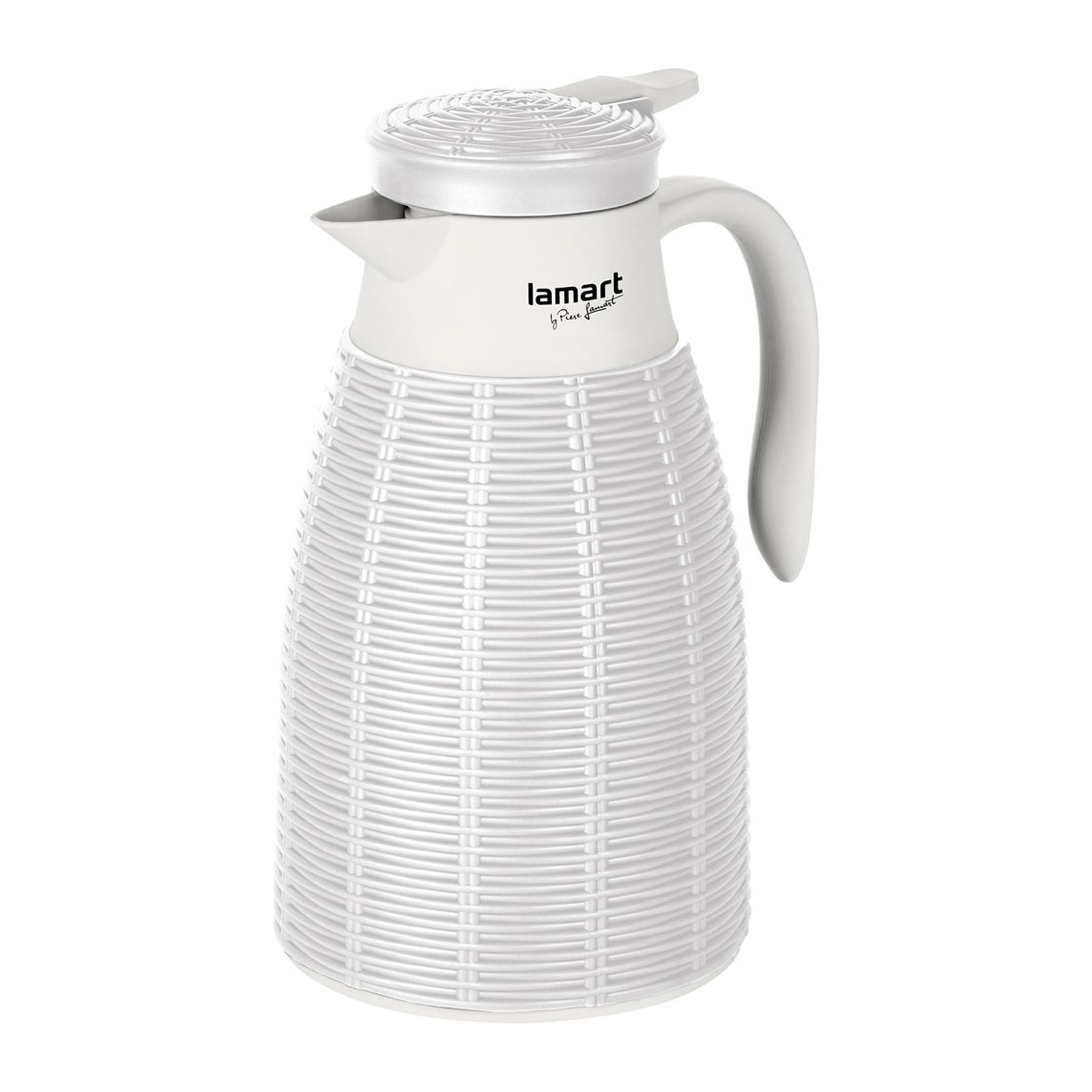 Lamart Vacuum Flask 1L - Ratan White