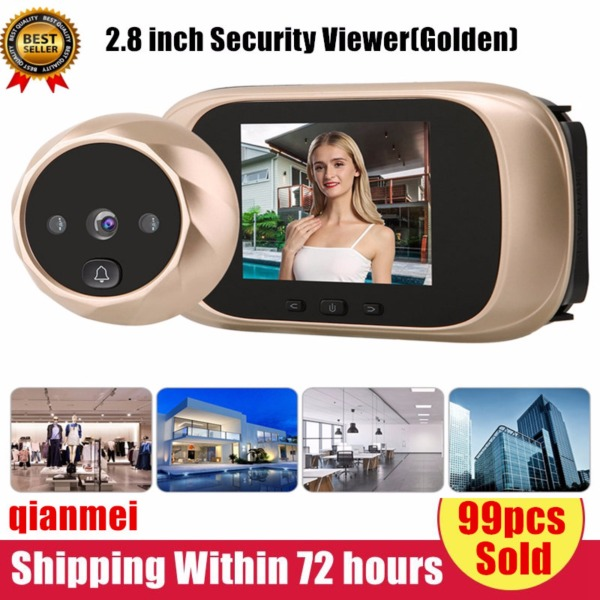 (Gold Certified Qianmei)2.8 inch LCD Smart Digital Door Security Viewer 90° Wide Angle HD Camera Monitor