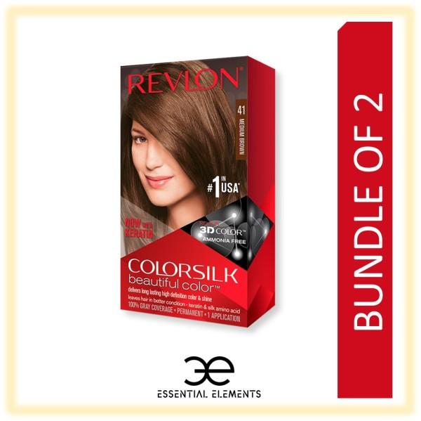 Buy REVLON [BUNDLE OF 2] COLORSILK 3D HAIR DYE HAIR COLOR Ammonia Free Dye Black/Brown/Golden/Burgundy/Ash Singapore