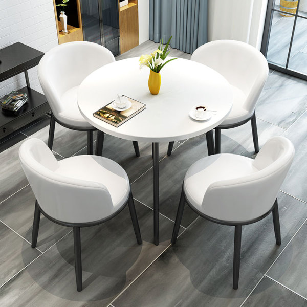 [A-STAR] Raelz Dining Table and Chair PVC Cushion White (FREE INSTALL)