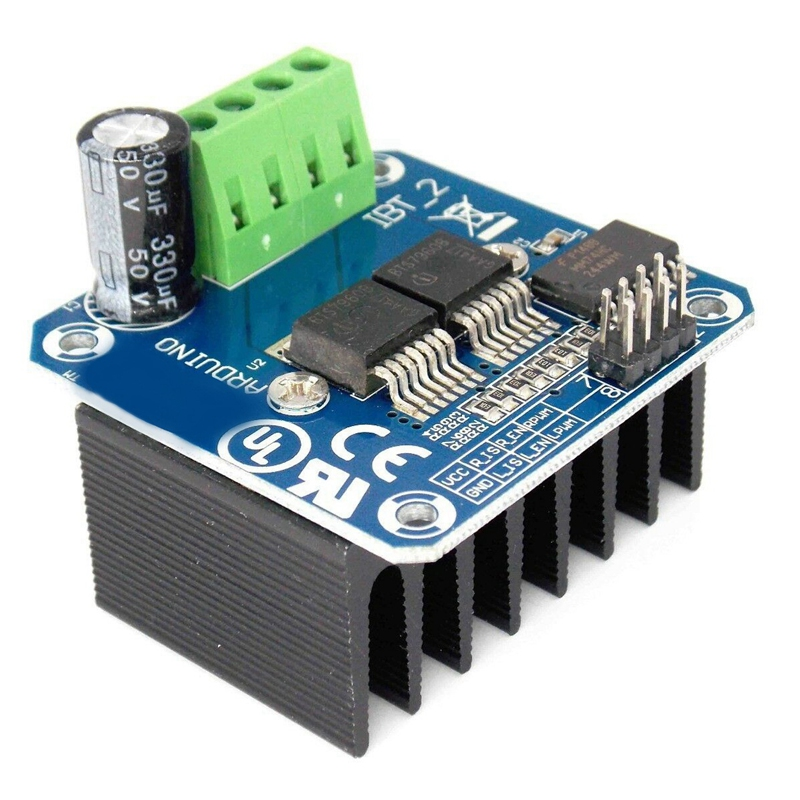 Giá Double BTS7960 43A Peak Power H-Bridge PWM Motor Driver Module for Arduino Smart Car Robot