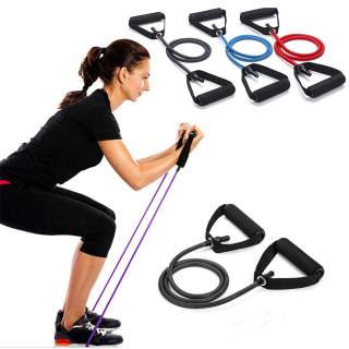AD8T2 Muscle Home Gym Tube Workout Strength Training Fitness Elastic Resistance Bands Yoga Pull Rope thumbnail