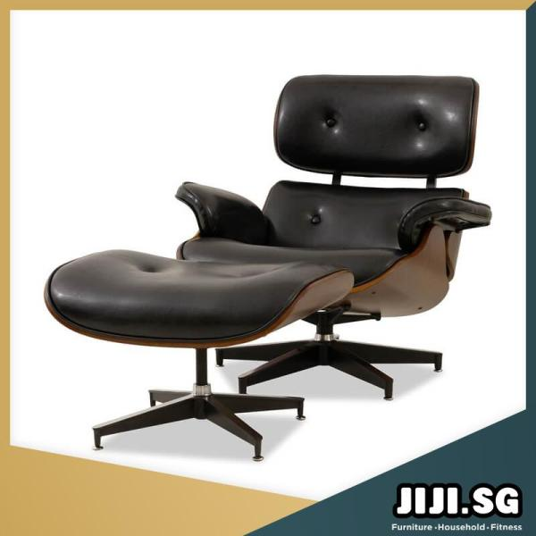 JIJI Eames Lounge Chair (Free Installation) - Relax Chair / Designer Chair / European style office (SG) Free Delivery
