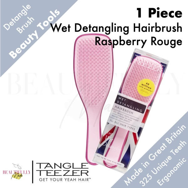 Buy Tangle Teezer Wet Detangling Hairbrush Raspberry Rouge Pink - Detangler Untangle Every Strand of Hair Quickly & Gently Singapore