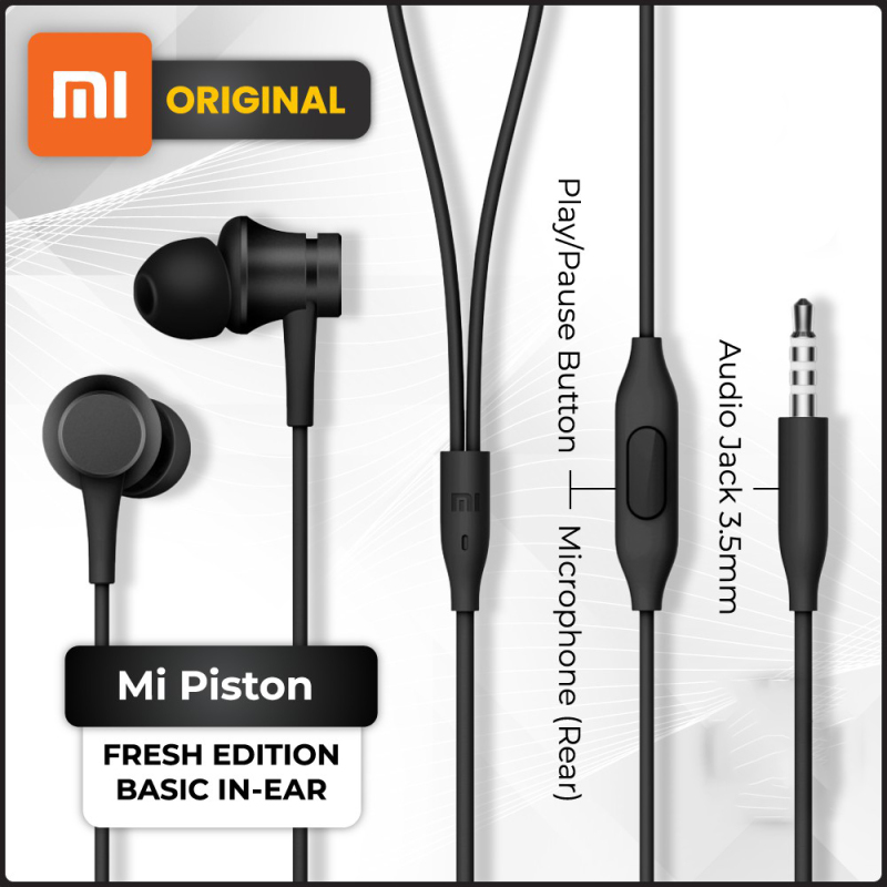 Original Xiaomi Mi Piston In-Ear Headphones Singapore