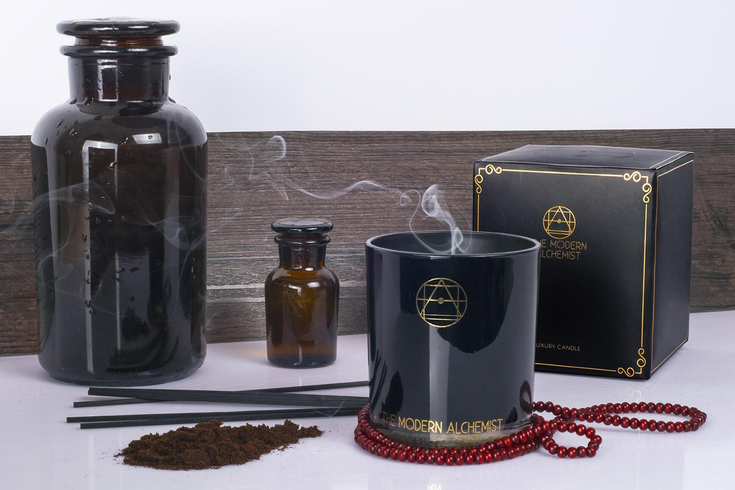 The Modern Alchemist - Vintage Leather - Premium Soy Wax Candle, 100% Natural