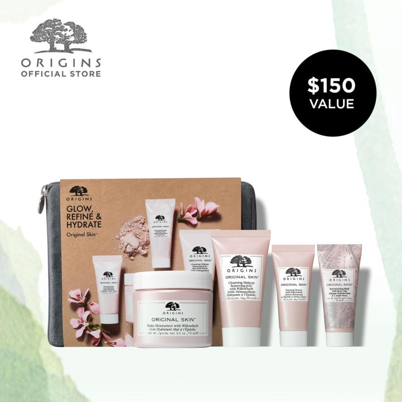 Buy [LIMITED EDITION] Origins Glow, Refine & Hydrate Original Skin Kit (Worth $150) Singapore