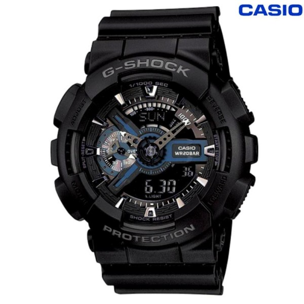 G-Shock GA-110-1B 200M Water Resistant Shockproof and Waterproof World Time LED Auto Light Wrist Sports Watches with 2 Year Warranty Malaysia