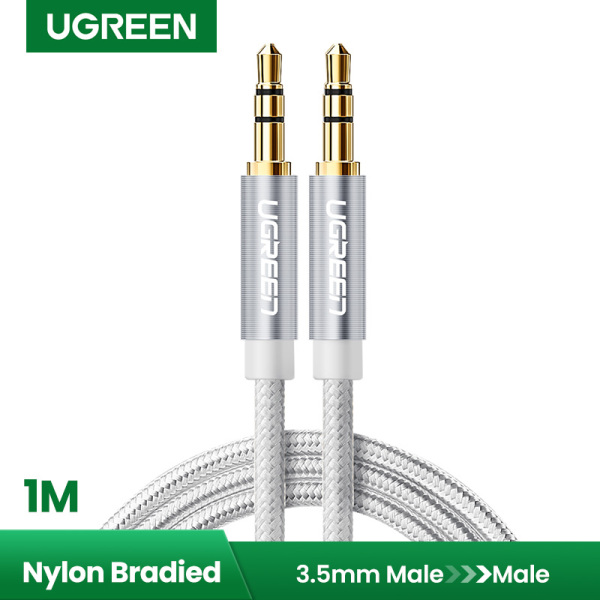 UGREEN 1 Meter 3.5mm Auxiliary Audio Cable Compatible for iPhone, iPad or Smartphones, Tablets, Media Players Singapore