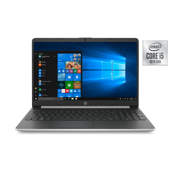 Same day delivery New model 2020 10th Gen HP 15-dy1071wm Notebook Choose 15.6 or 14  Full HD Choose i7-1065G7/i5-1035G1/i3-1005G1  8GB RAM 500/480 GB SSD +HDD option Win 10 Home Natural Silver Win10 1 year warranty Display set clearance