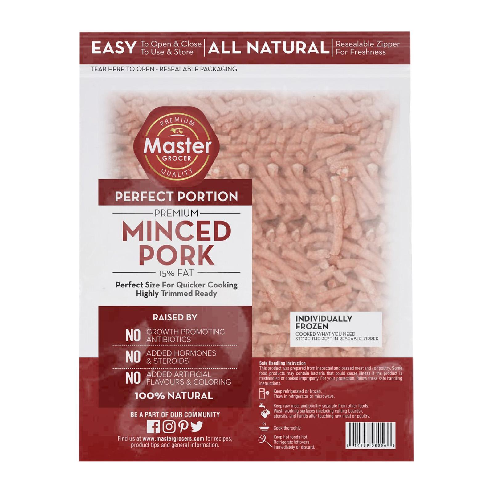 Master Grocer Minced Pork - Frozen