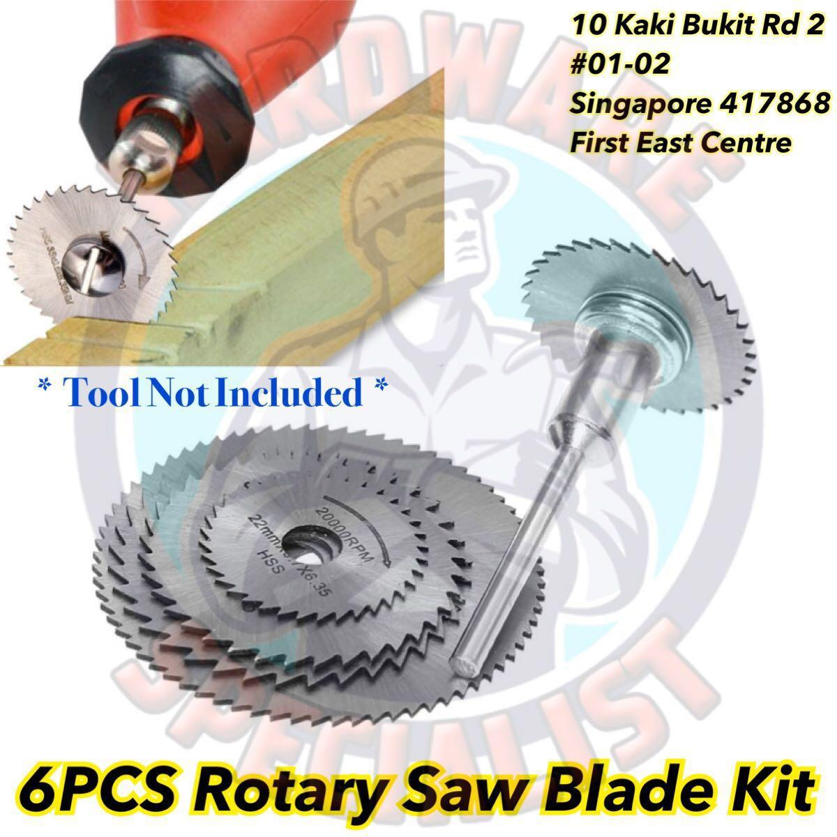 6 PCS HSS Circular Saw Blade For Rotary Tool (Suitable For Dremel)