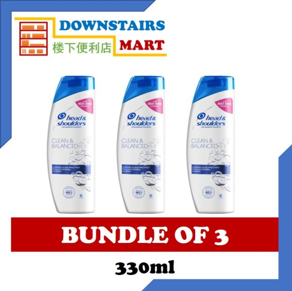Buy [Bundle of 3] Head & Shoulders Clean & Balance Shampoo 330ml x 3 Singapore