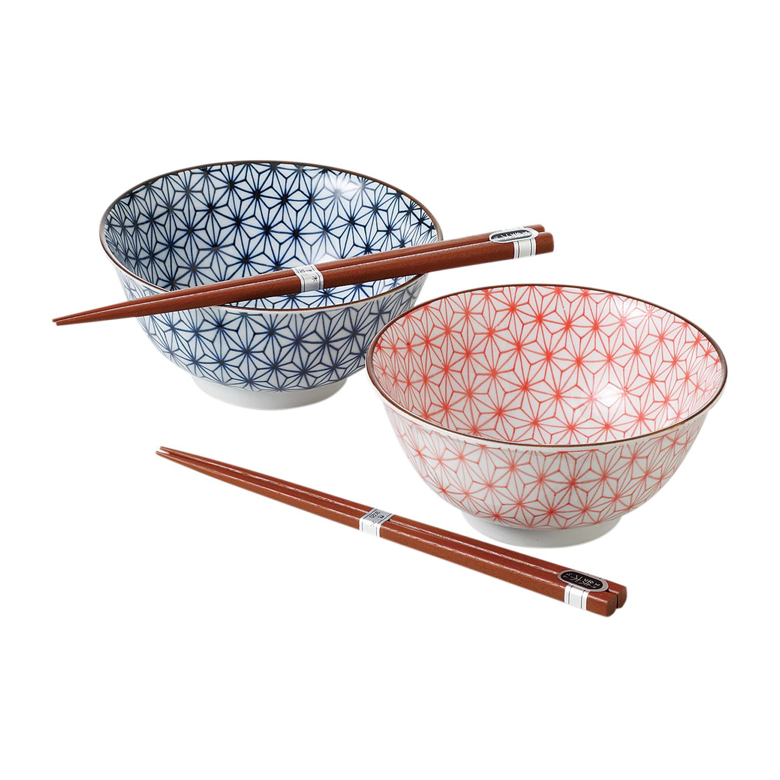 Tsuru 80 - 51 - 34 2 PCS Bowl With Chopsticks Set