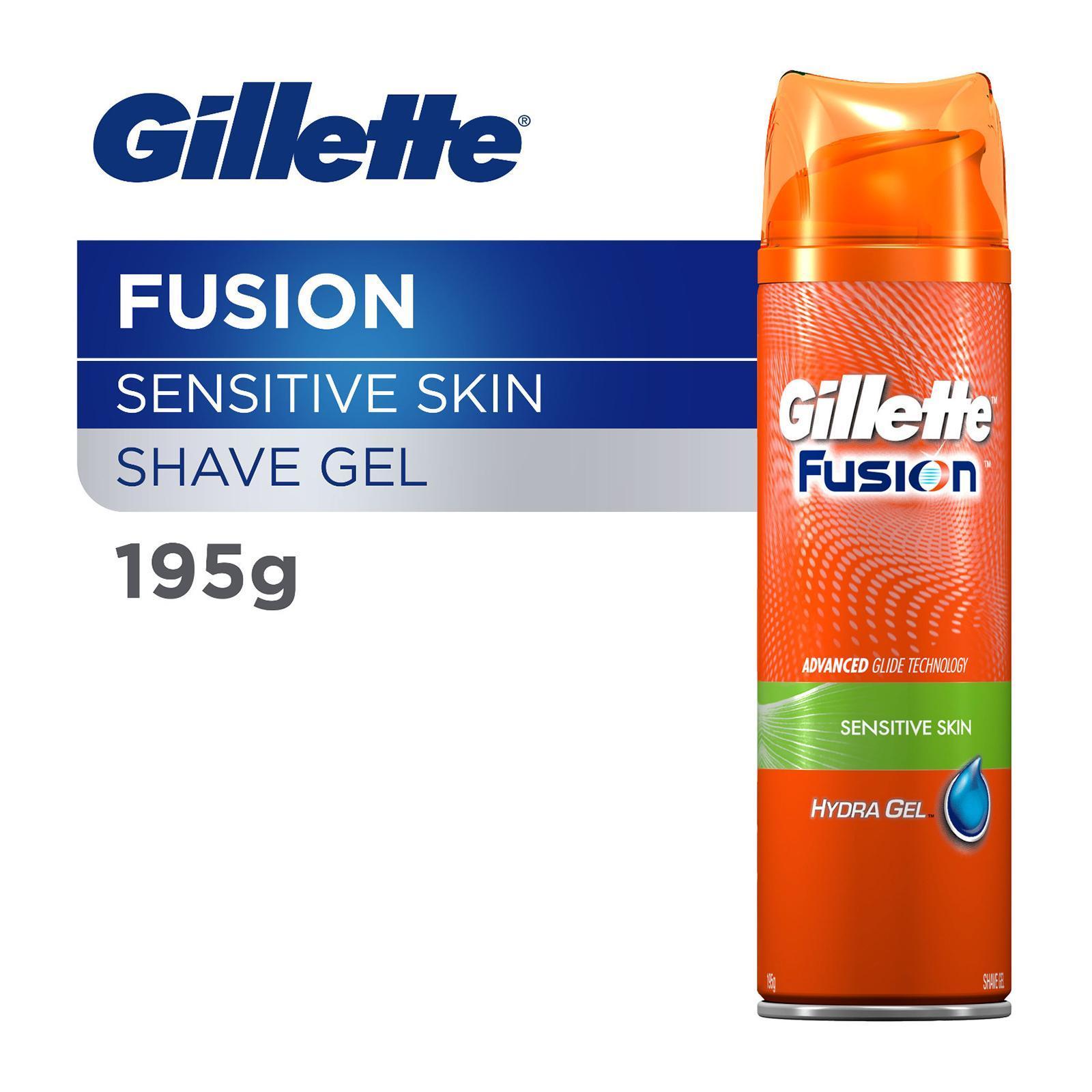 GILLETTE Fusion Hydra Gel Shave Prep (Sensitive Skin) 195g