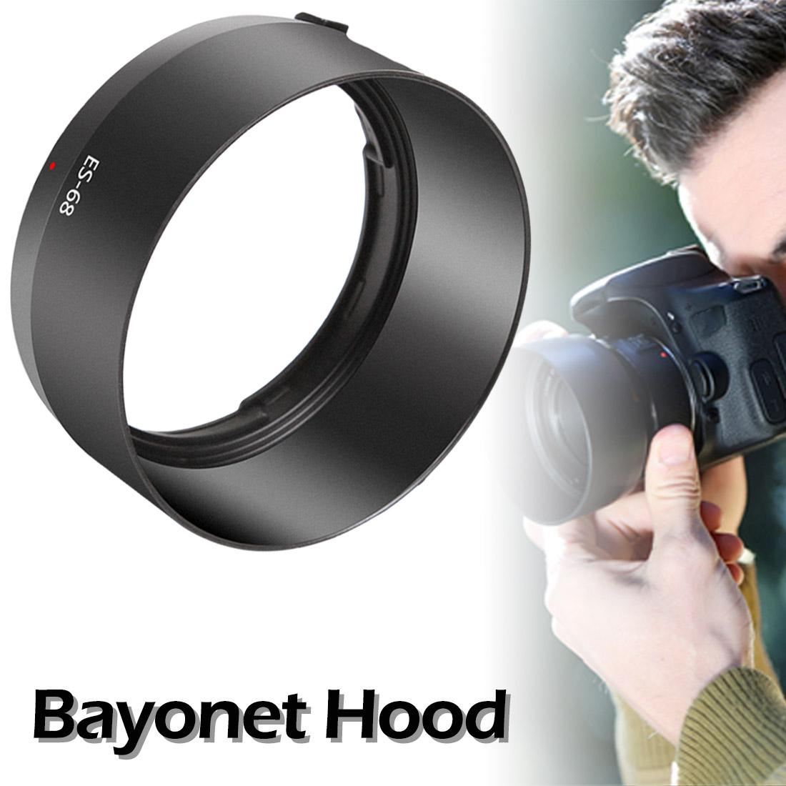 CAOMING ES-68 Lens Hood Shade for Canon Camera EOS EF 50mm f//1.8 STM Lens Durable