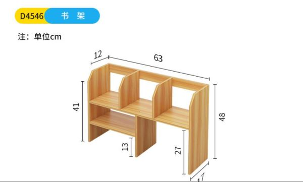 Bookshelf Rack on Desk Space Saving Shelf Economic Desktop Simple Small Bookcase