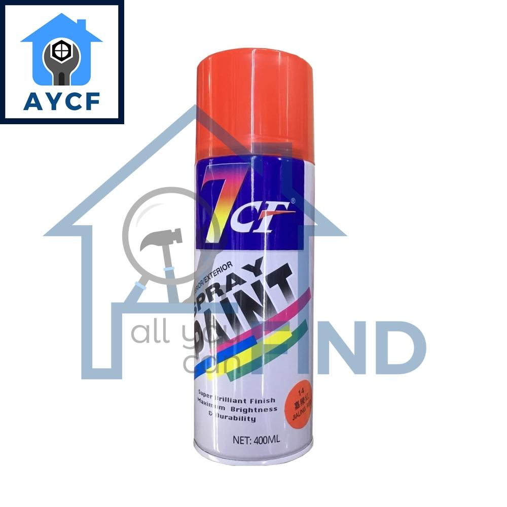 (BUNDLE OF 12) 7CF Interior / Exterior Spray Paint 400ml - Jialing Red