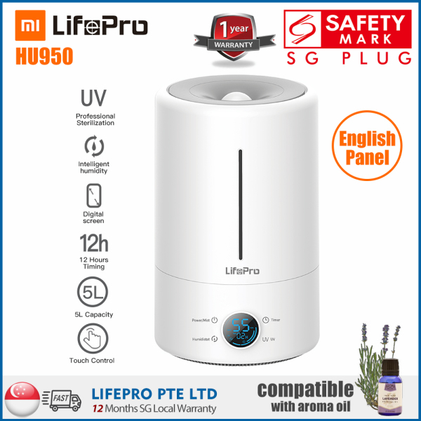 LifePro HU950 5L Humidifier (English Version of Mi/Deerma F628S with SG High Quality Standard)/ SG Plug/ 1 Year Warranty Singapore