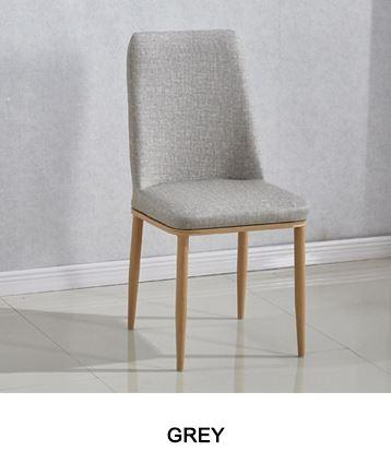 JIJI Messieurs Dining Chair Classic Fabric (Free Installation + 12 Months Warranty) - Designer Dining Chairs / Furniture (SG)