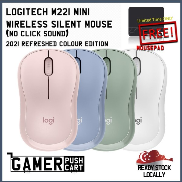 Logitech M221 Mini Wireless Silent Mouse (No Click Sound) 2021 REFRESHED COLOUR EDITION