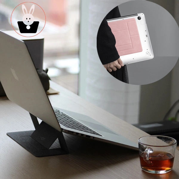🔥🔥【SG】READY STOCK notebook up to 15.6 inch laptop stand invisible portable foldable ventilated adjustable stand Laptop Stand Invisible Portable Foldable Ventilated Adjustable Stand for Notebook up to 15.6 inch Cooling Pads & Stands