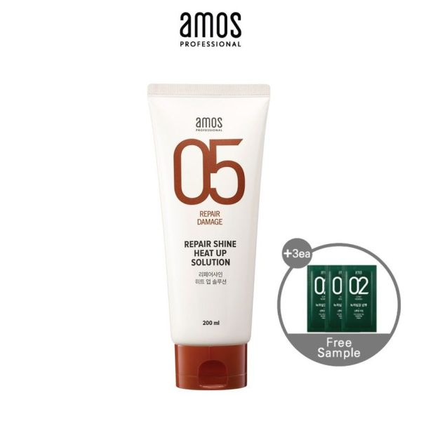 Buy [AMOS PROFESSIONAL] REPAIR SHINE HEAT UP SOLUTION 200ml Singapore