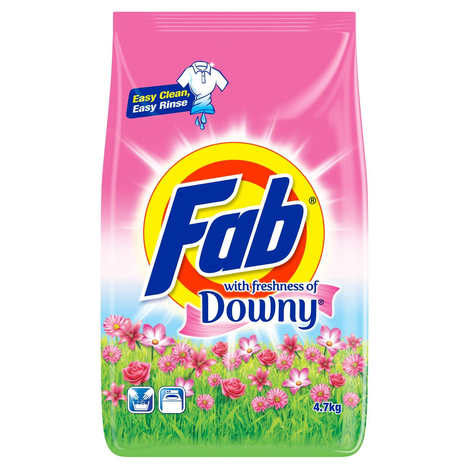 Fab Powder With Freshness of Downy Laundry Detergent