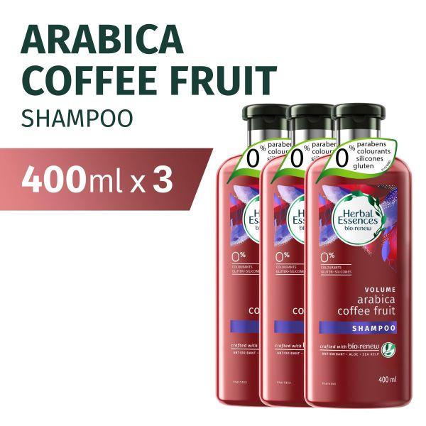 Buy [Bundle of 3] Herbal Essences Volume Arabica Coffee Fruit Shampoo 400ml Singapore