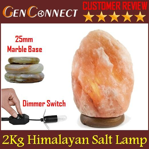 Himalayan Salt Lamp 1 to 8kg with Marble Base / Air Purifier / Humidifier / Ionizer / Negative Ion / Mask