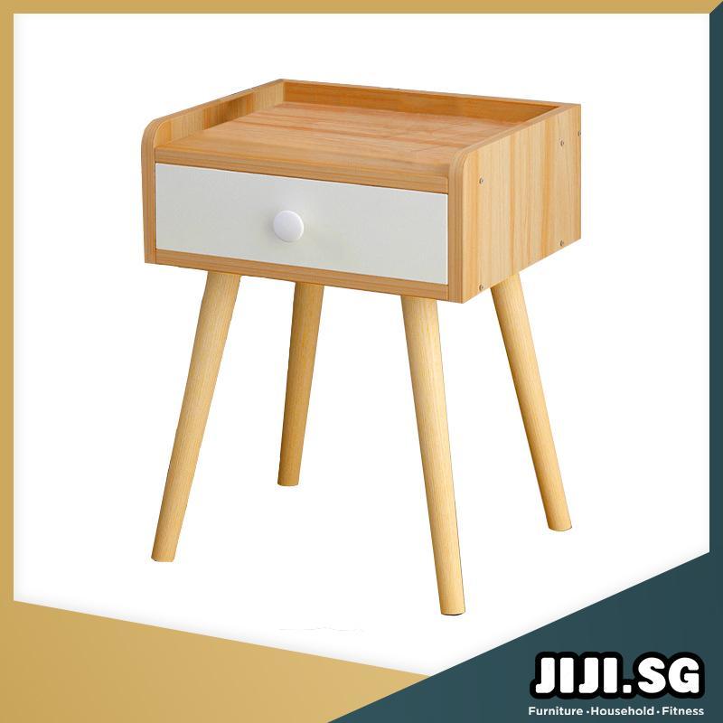 (JIJI SG) KEON Bedside Table (Free Installation) - Bedroom Furniture / Bedside Tables / 6 Months Warranty (SG)