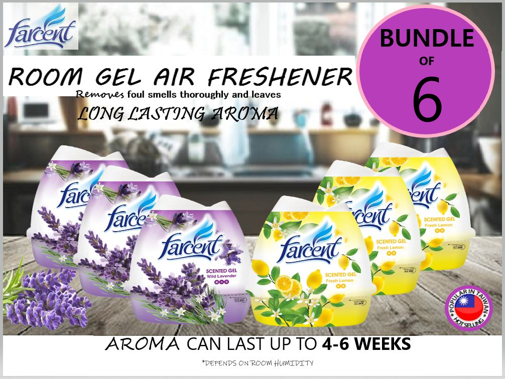 Farcent Gel Air Freshener Lavander Lemon Bundle of 6