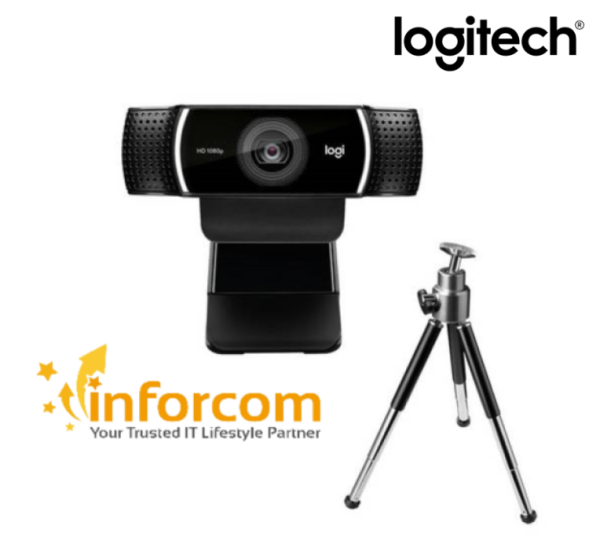 Logitech C922 Pro HD Video Conferencing Streaming Recording Webcam w/Tripod Full HD 1080P 30FPS H.264 ( Play Games Music Business Office Work From Home, Home Based Learning) C615 615 922【Limited Stocks】