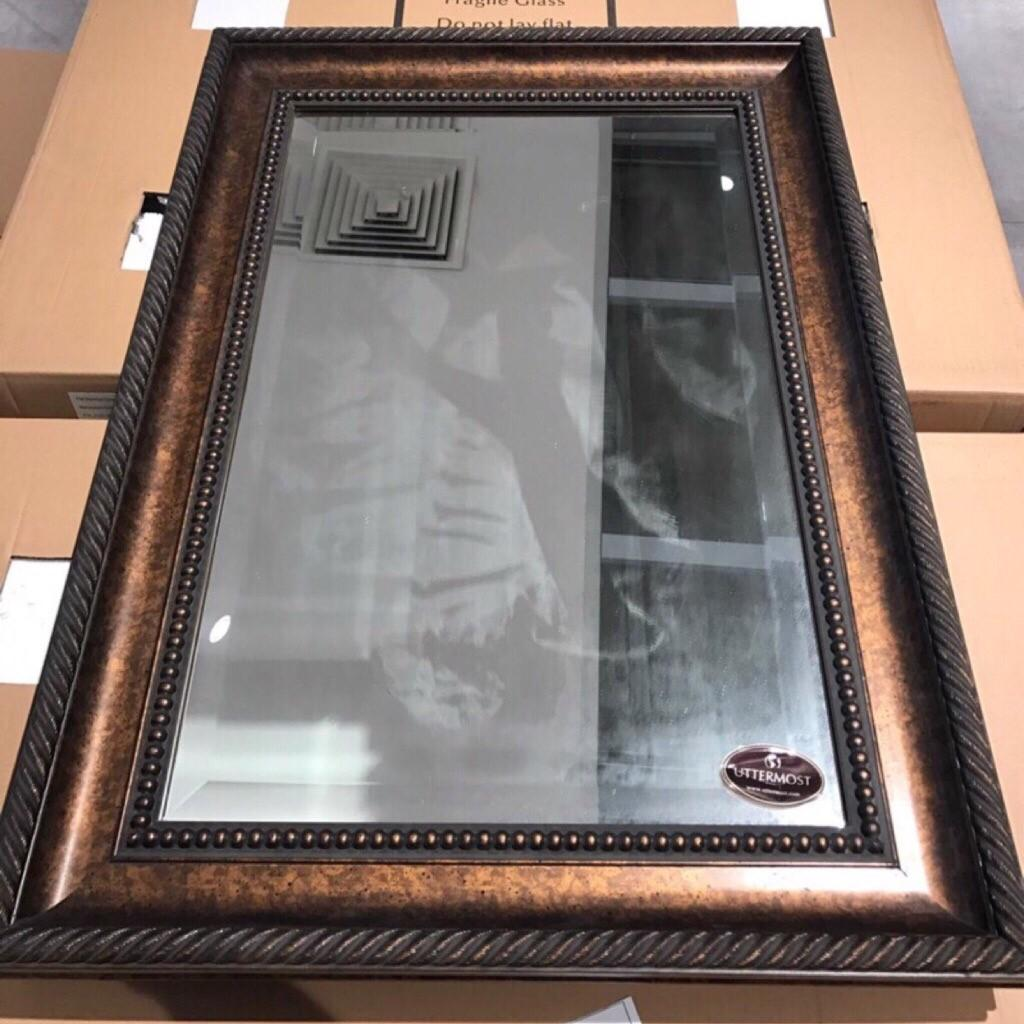 Wooden frame  wall mirror  New stock  Measurements in cm 63x88