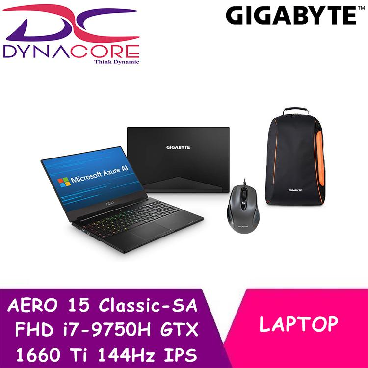 GIGABYTE AERO 15 Classic-SA FHD (i7-9750H/16GB SAMSUNG DDR4 2666 (8GB*2)/GeForce GTX 1660 Ti GDDR6 6GB/512GB INTEL 760P PCIE SSD/15.6 Thin Bezel LG FHD 144Hz IPS/WINDOWS 10 PROFESSIONAL)
