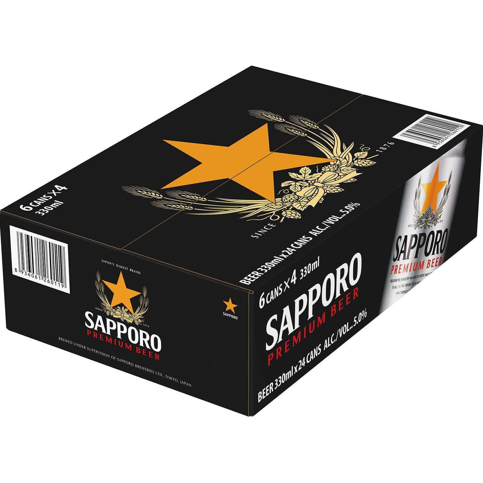 Sapporo Premium Draft Beer Case