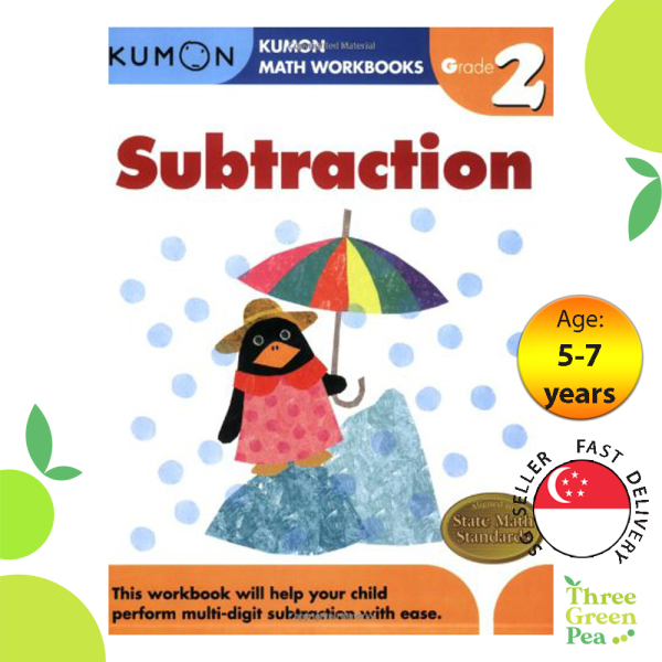 Kumon Math Workbooks Grade 2 SUBTRACTION