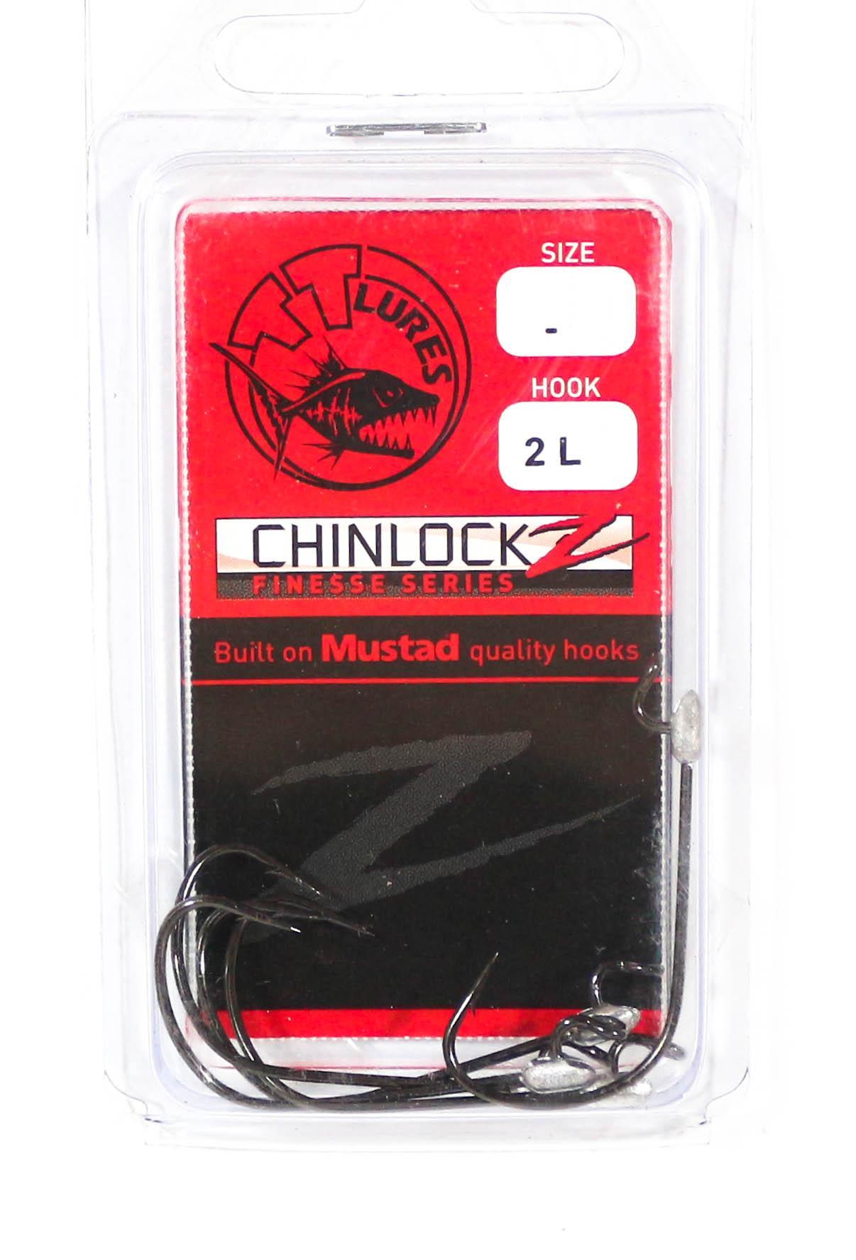 0954 Tackle Tactics TT ChinlockZ Weighted Worm Hook 1//6 oz 8//0 2 per pack