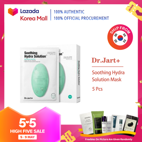 Buy Dr.Jart+ Official  Soothing Hydra Solution Mask 5 Pcs  [Korea Beauty Authentic] Singapore
