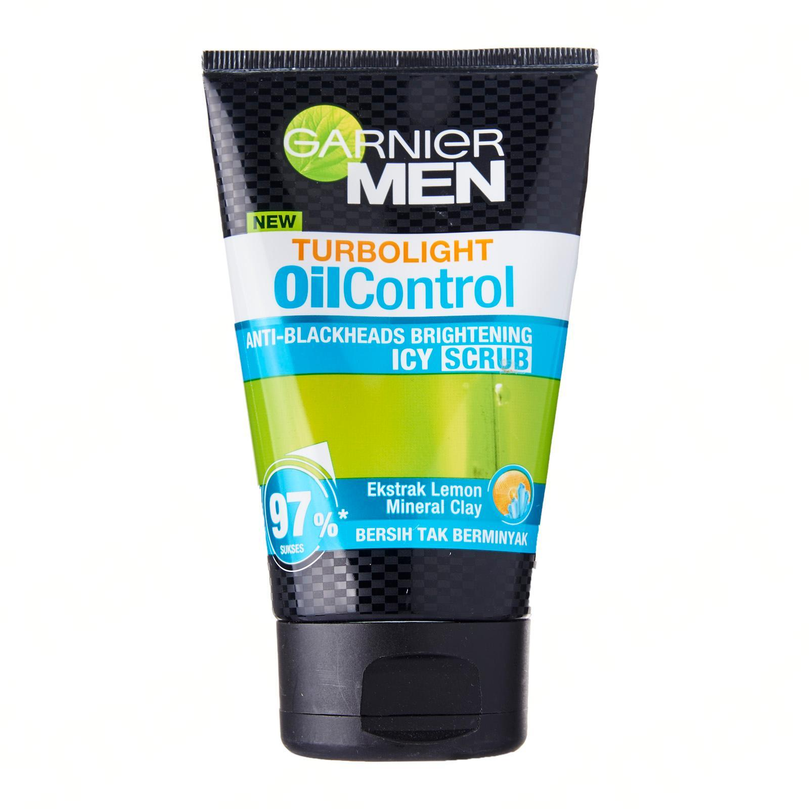 GARNIER MEN Turbo Light Oil Control Icy Scrub